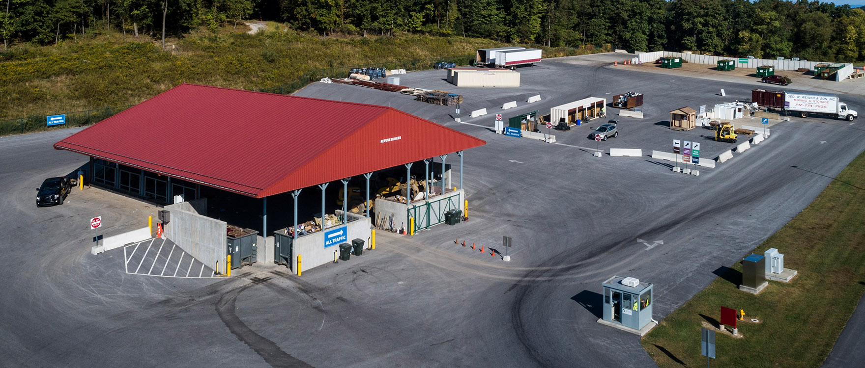 York County Solid Waste Authority's Small Load Drop Off Area